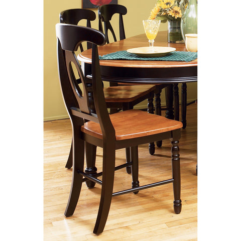 A-America British Isles Napoleon Side Chair, Honey-Espresso Finish