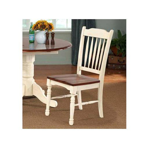 A-America British Isles Slatback Side Chair, Merlot-Buttermilk Finish