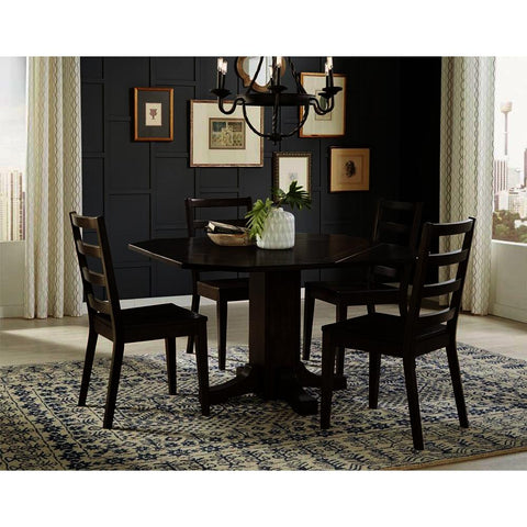 A-America Brooklyn Heights 5 Piece Drop Leaf Dining Room Set in Warm Grey