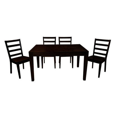 A-America Brooklyn Heights 5 Piece Square Leg Dining Room Set in Warm Grey
