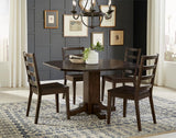 A-America Brooklyn Heights Drop Leaf Dining Table in Warm Grey