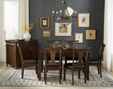 A-America Brooklyn Heights Square Leg Dining Table in Warm Grey