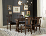 A-America Brooklyn Heights 7 Piece Square Leg Dining Room Set w/T-Back Chairs in Warm Grey