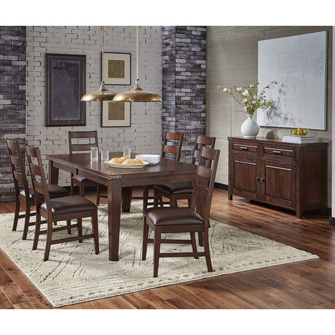 A-America Carter 8 Piece Leg Dining Room Set in Rich Tobacco