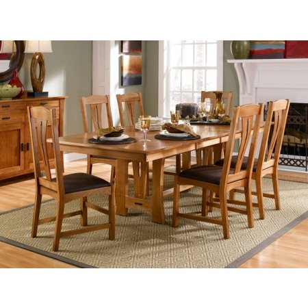 "A-America Cattail Bungalow 96"" Trestle Table With 18"" Leaves"