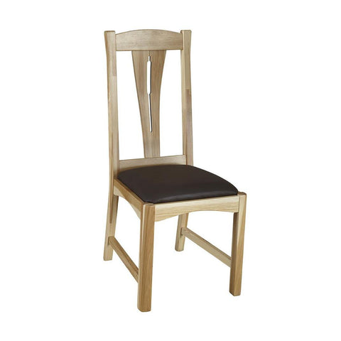 A-America Cattail Bungalow Comfort Side Chair, Natural Finish
