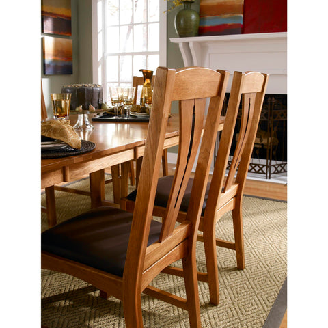 A-America Cattail Bungalow Comfort Side Chair, Warm Amber Finish