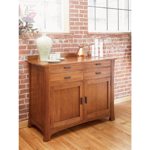 A-America Cattail Bungalow Side Board, Warm Amber Finish