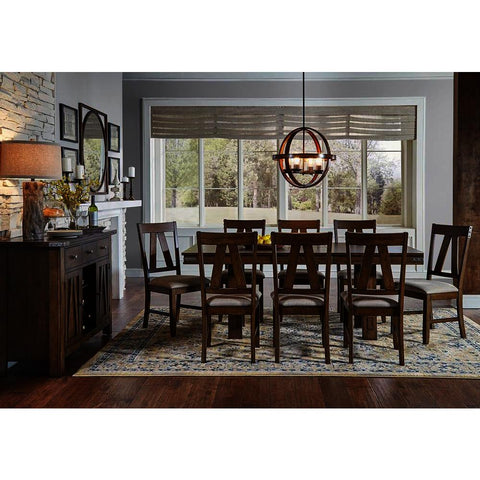 A-America Eastwood 10 Piece Trestle Dining Room Set w/Butterfly Leaf in Rich Tobacco