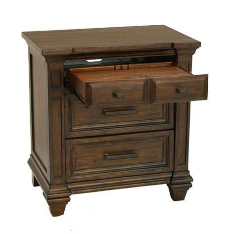 A-America Gallatin 3 Drawer Nightstand