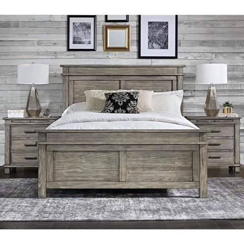 A-America Glacier Point 3 Piece Panel Bedroom Set in Greystone