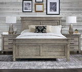 A-America Glacier Point 4 Piece Panel Bedroom Set w/Chest in Greystone