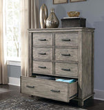 A-America Glacier Point 5 Piece Panel Bedroom Set in Greystone