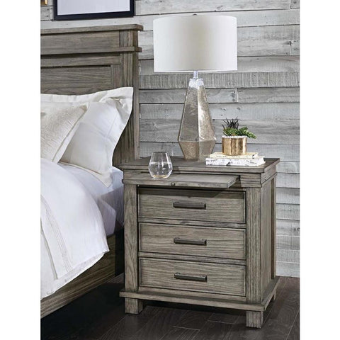 A-America Glacier Point Nightstand in Greystone