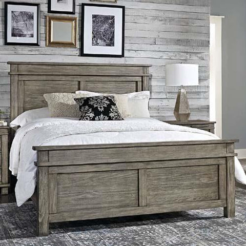 A-America Glacier Point Panel Bed in Greystone