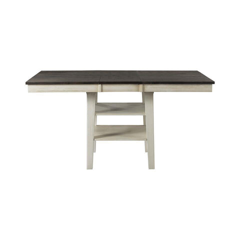 A-America Huron Gather Height Leg Table w/Leaf in Cocoa-Chalk