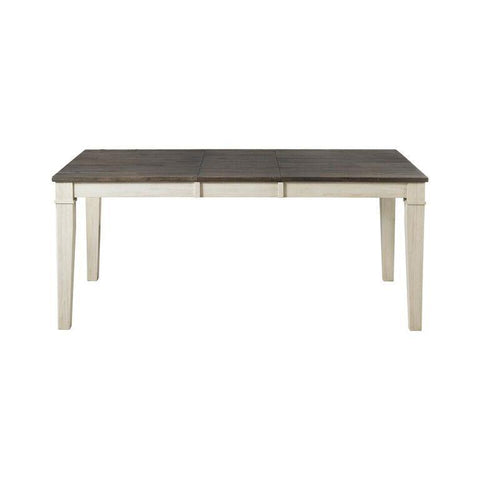 A-America Huron Leg Dining Table w/Leaf in Cocoa-Chalk