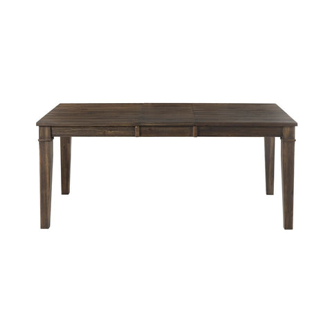 A-America Huron Leg Dining Table w/Leaf in Weathered Russet