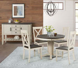 A-America Huron Pedestal Dining Table w/Leaf in Cocoa-Chalk