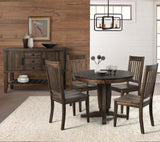 A-America Huron Pedestal Dining Table w/Leaf in Weathered Russet