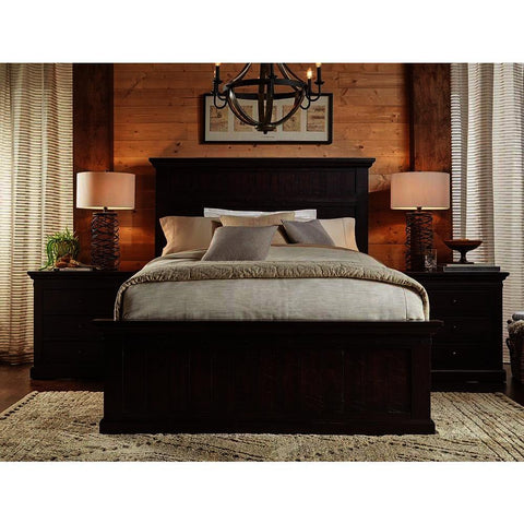 A-America Jackson 3 Piece Panel Bedroom Set in Rawhide Mahogany