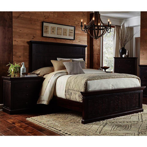 A-America Jackson 4 Piece Panel Bedroom Set in Rawhide Mahogany