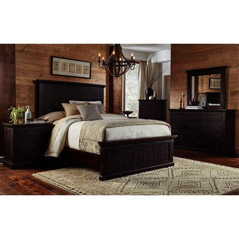 A-America Jackson 5 Piece Panel Bedroom Set in Rawhide Mahogany