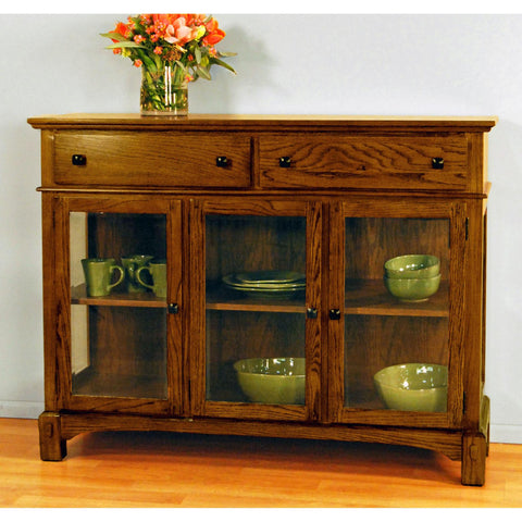 "A-America Laurelhurst 54"" Server, Mission Oak Finish"