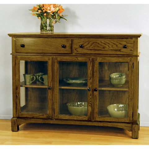 "A-America Laurelhurst 54"" Server, Rustic Oak Finish"