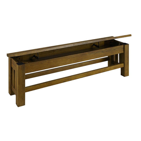 "A-America Laurelhurst 60"" Bench, Rustic Oak Finish"