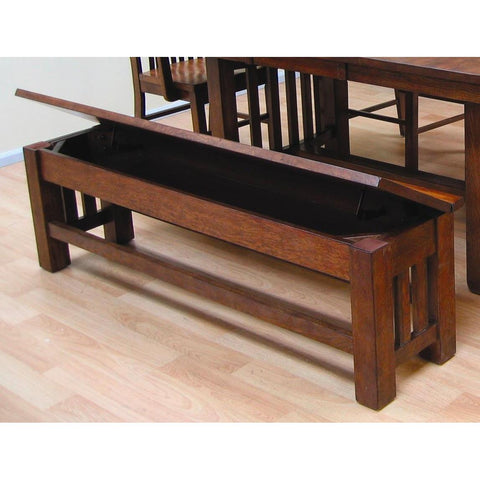 "A-America Laurelhurst 60"" Storage Bench, Mission Oak Finish"