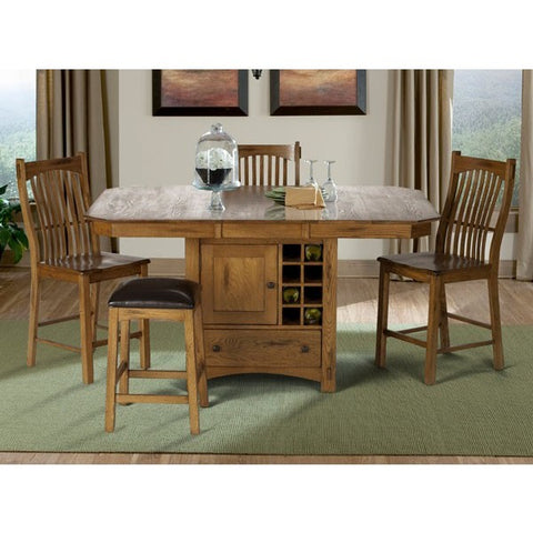 A-America Laurelhurst 8 Piece Gathering Height Dining Set