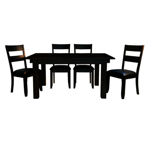 A-America Mariposa 5 Piece Leg Dining Room Set in Warm Grey