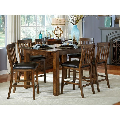 A-America Mariposa 7 Piece Gathering Height Dining Set