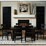 A-America Mariposa 7 Piece Leg Dining Room Set in Warm Grey