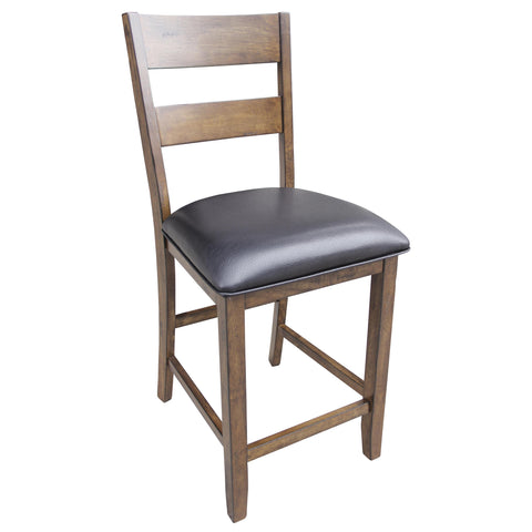 A-America Mariposa Ladderback Counter Chair, With Upholstered Seat