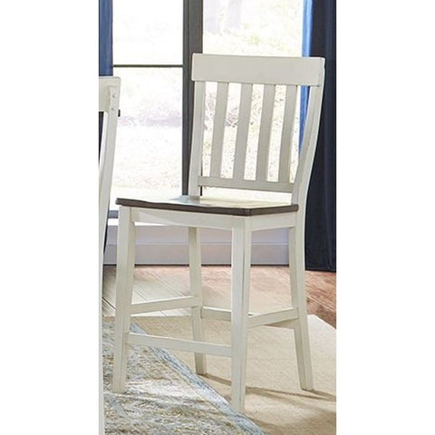 A-America Mariposa Slatback Counter Chair in Cocoa-Chalk