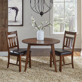 A-America Mason 42 Inch Round Drop Leaf Dining Table in Mango