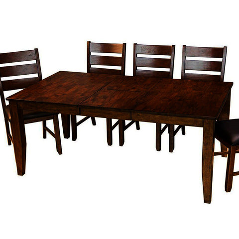A-America Mason 72 Inch Rectangular Leg Dining Table w/Butterfly Leaf in Mango