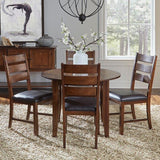 A-America Mason 7 Piece Rectangular Leg Dining Room Set w/Butterfly Leaf in Mango