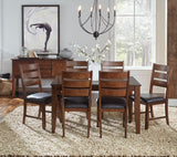 A-America Mason 5 Piece Rectangular Leg Dining Room Set w/Butterfly Leaf in Mango