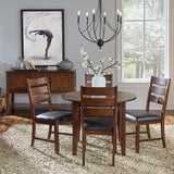A-America Mason 10 Piece Square Gather Height Table Set w/Slat Back Stools in Mango