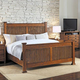 A-America Mission Hill 3 Piece Slat Bedroom Set in Harvest