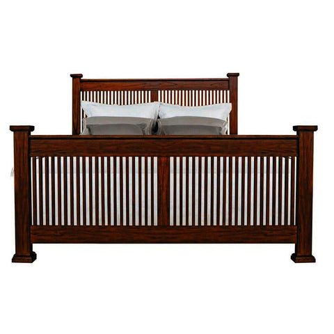 A-America Mission Hill Slat Bed in Harvest