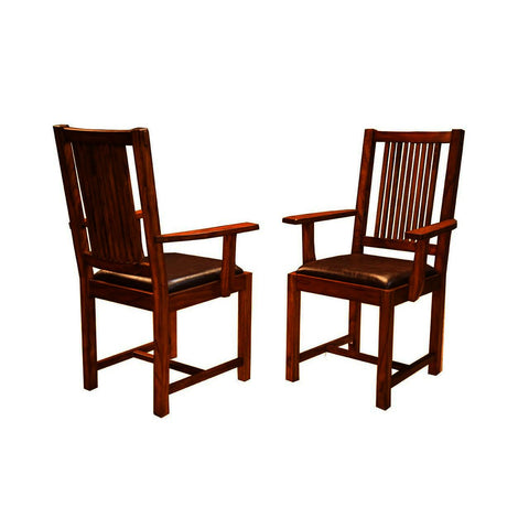 A-America Mission Hill Slatback Arm Chair in Harvest
