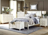 A-America Northlake 5 Piece Panel Bedroom Set in White Linen