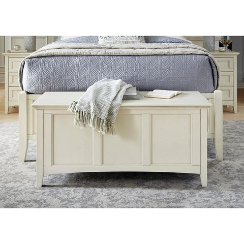A-America Northlake Storage Trunk in White Linen