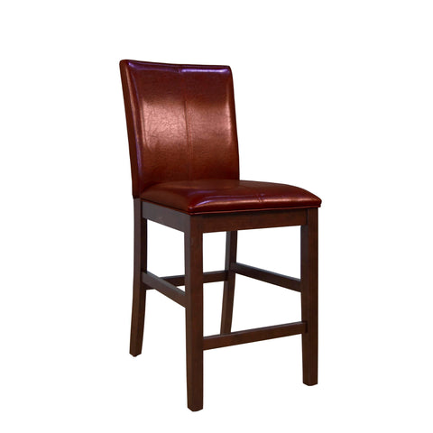 A-America Parson Chair Program Curved Back Parson Counter Chair, Red