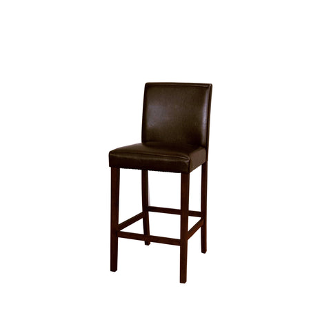 A-America Parson Chair Program Low Back Parson Bar Chair, Brown Bonded Leather