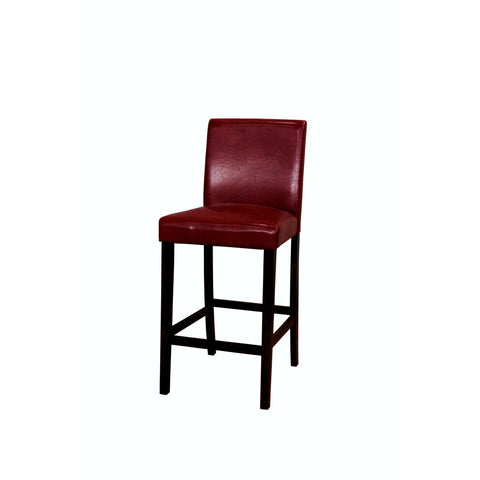 A-America Parson Chair Program Low Back Parson Bar Chair, Red